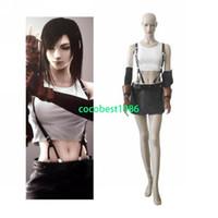 Wholesale Tifa Lockhart Costumes - Final Fantasy VII Tifa Lockhart Cosplay Costume any size