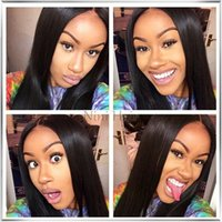 Wholesale Grade A Top Quality Malaysian Straight Virgin Full Lace Wig Unprocessed Human Hair Lace Front Wigs For Black Women With Baby Hair