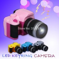 Wholesale Camera Led Light Keychain - Wholesale-factory direct SLR camera sound led keychain light keyring toy wholesale BS-032