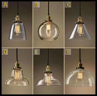 Wholesale Vintage Glass Hanging Lamps - AC100-240V Lustre Classic Vintage Chandelier Light Cafe Creative Glass Pendant Bar Lamp Clothing Store Fixtures Hanging Pendant Lights