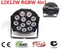 2 Unids CREE RGBW 12x12 W 4in1 LED Flat SlimPar Quad Luce LED luce della lampada 4 8 channes dmx DJ Luz de la Etapa de Lavado