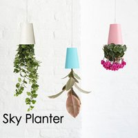 Wholesale Types Flower Pots - Plastic Hanging Garden Pot Purified Air Upside Down Type Sky Planter Water Saving And Drought Resistant Flowerpot For Office 21cx B