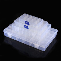 Wholesale Wholesale Assortment Box - 10 15 24 36 4 Size Slot Clear Plastic Box Electronic Components Storage Organizer Assortment Case Convenience Store Small Items