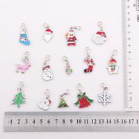 Wholesale Origami Owl Wholesale Lockets - Christmas Gift Enamel Charms Floating Tag Dangle Pendant Charms Fit Origami Owl Locket Pendant JJAL BE311
