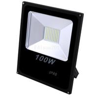 светодиодные прожекторы ip65 цены оптовых-Дешевые Новая цена водонепроницаемый Белый IP65 100 Вт открытый светодиодные прожекторы теплый прохладный светодиодные прожекторы AC 85-265 в светильники