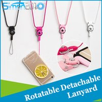 Wholesale Cellphone String - Charm Strap Neck hanging Lanyard Detachable Rotatable Charming String cellPhone Rope for Cell Phone MP3 MP4 ID