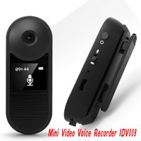 Wholesale Dvr Recorder Loop - Mini DVR Camera IDV008 HD 1080P Wearable Body Bike Camcorder DV Loop Video Recorder seperate Voice Pen Recorder support 128GB ann