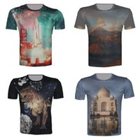 space shuttle designs - w20151222 Couture Size XS XL Space Shuttle Taj Mahal Volcano Galaxy Dinosaur Print Men s Summer T Shirt Brand Design Camisetas Tops