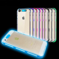 Wholesale Cover Cases For Phones - 2016 Hot selling clear TPU led light calling flashing cell phone case cover for iphone 5 5S SE 6s 6 7 7S plus