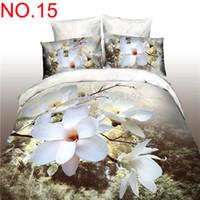 Wholesale Magnolia 3d Bedding - Wholesale-Magnolia Bedding sets 3D Bedclothes Black Duvet cover sets queen size Bed linen bed sheet sets bed sheet