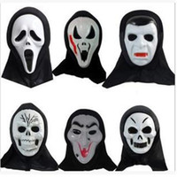 Wholesale Screaming Mask - Halloween Christmas Death to the monolithic horror ghost mask Halloween grimace scream masks for masquerade balls 110126
