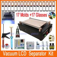 Wholesale Separator Screen Digitizer - Wholesale-2015 New Built-in Pump Vacuum LCD Separator Machine Tool Set Kit to Repair Glass Touch Screen Digitizer for iPhone 4 5 6 Phone