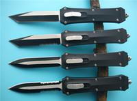 nova bronzear faca de sobrevivência ao ar livre venda por atacado-Full size A162 Combate dupla ação para fora as facas automáticas dianteiras 440C aço faca de bolso com caixa de varejo e bolsa de nylon A16 616