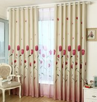 Wholesale Tulip Curtains - Rustic Window Curtains For Living Room Blackout Curtain For Kitchen Summer Pastoral Size Customized Tulip Pattern