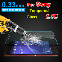 Wholesale Mini C4 - 2.5D Tempered Glass Screen Protector For Sony Z 2 3 4 5 OR mini serious M2 M4 E3 E4 C4 C5 T3...