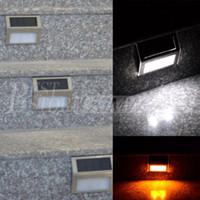 Wholesale Solar Warm White Flood Light - Waterproof LED Solar Light Lamps Solar Led Flood Lights 2 Leds Garden Lights Outdoor Landscape Lawn Lamp Solar Wall Lamps Solar Lights