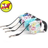 Wholesale Automatic Pet Dog Traction Rope - Free Shipping 5m Top Quality Dog Lead Retractable Dog Leash Pet Traction Rope Chain Harness Pet Dog Collars Automatic Adjustable