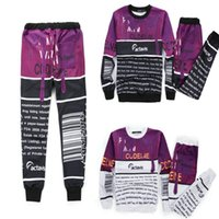 Wholesale funny tracksuit - Wholesale-New Mens joggers coffee&letter printed funny suit tracksuit for men women girl boy outdoor joggers&hoodies set outfit