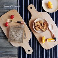 clavija china al por mayor-Tablero de corte de madera de haya japonesa tabla de cortar para picar suministros creativos para hornear de cocina de tablero ganmiano ZB-1