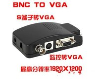 Wholesale Security Camera S - DHL free BNC S-Video to VGA Adapter Converter Splitter Switch Switcher 1200P For CCTV Camera Home Security Monitor Accessories