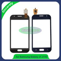 as partes al por mayor-4.3 pulgadas J110 TP para Samsung Galaxy J1 Ace J110 Touch Panel Panel digitalizador sensor lente vidrio piezas de repuesto