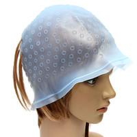 ingrosso evidenziando il tappo-1 Pz Pro colorazione dei capelli riutilizzabili Evidenziatura Dye Cap Hook Glassa Tipping Hair Color Styling Tools