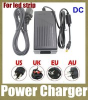 Wholesale Fits Power Cables - power supply 6A 72W 12V Transformer Adapter (AC 110-240V To DC 12V) Charge For LED Strip Light with Cable fit EU AU US UK Plug DY005