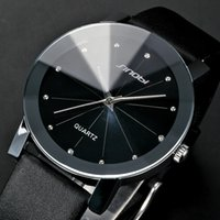 Wholesale Sinobi Fashion Crystal - Classical SINOBI Diamond Crystal Silver Case Elegant All Black Men Quartz Wrist Gift Dress Men's Leather Strap Watch   SNB021