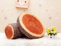 Wholesale Log Novelty Pillow - Wholesale - Shipping Novelty Wood Grain and Wood Throw Pillows Green Log Pillow Gift for kid Child Cylindrical Car Cushion Christmas Gift