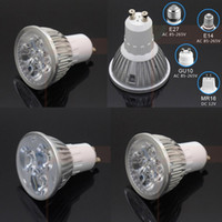 Wholesale Mr16 Led Blue 12v - 6W 8W 10W 3 4 5*2w Led Plant Grow Light E27 E14 GU10 MR16 AC 110v 220v DC 12v for flowering plant hydroponics system bulb lamp