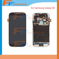 Wholesale Display S4 Blue - Display LCD For Samsung Galaxy S4 i9500 i9505 I545 I337 M919 L720 R970 i9506 White Blue Original LCD Touch Screen Digitizer Frame