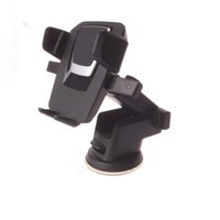Wholesale rotary phone holder for sale – best New Fashion Rotary PU Suction with adhesive Car Dashboard smart phone Holder silicone suction car holder for mobile phone for iPhone