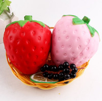 corrida momo venda por atacado-Atacado 12 cm grande colossal morango squishy jumbo simulação frutas kawaii lento crescente brinquedos squishies queeze brinquedos saco telefone charme