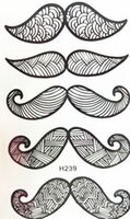 Wholesale Moustache Stickers - Wholesale- 2016 NEW 10x6cm Temporary Small Fashion Tattoo Black big Sexy Moustache Waterproof Temporary Tattoo Stickers