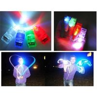 Wholesale Led Torch Toys - 20PCS LED Finger Lights Toys Ring Laser Rave Party Concert Favors Glow Beams Torch
