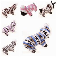 Coral Fleece Dog Clothing Winter Warm Puppy Coats Small Dog Clothes Pet Supplies 6 Designs Cute YW265