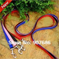 Wholesale Dog Training Rope Lead - Wholesale-New Pet Puppy Leash Harness Rope Dog Leash Training Lead Collar Dog Rope for Small Dogs Blue Black Pink RedV3402