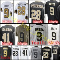 Wholesale Football Drew Brees - Youth Kid  Men #9 Drew Brees jersey Cheap sales Men's 9 Drew Brees 28 Adrian Peterson stitched jerseys Free Shipping