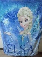 Wholesale Twin Size Pink Blanket - 2015 Snow Queen Elsa Anna Princess Fleece Blanket Blue Pink In Stock Size 100*130cm Children Fleece Blanket 1pcs Sale