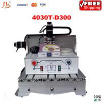 Wholesale Desktop Drill Machine - Free shipping!!Low cost pcb cnc drilling machine 3040T-D300 desktop drinlling and Milling Machine, china wood cutting machine