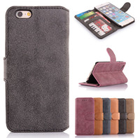 Wholesale S4 Retro Case - Retro Flip Photo Frame Wallet PU Leather Cover Case With Stand Card Slots For iPhone 4 5 6 4.7 Plus 5.5 Samsung Galaxy S4 S5 Note Note4