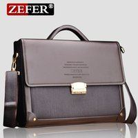 Wholesale Zefer Business Bags - Zefer Men Business Bag High Quality Luxury Briefcase With Coded Lock match your business trip PU Material Handbag Worth having free shipping