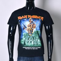 Wholesale Tee Shirt Iron Size - Wholesale-New 2015 Men's 3D Iron Maiden Hip Hop T-Shirt Skull Printed T Shirt Street Fashion T Shirts Tees Tops Plus Size S-XXL T93