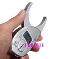 Wholesale Digital Weight Meter - Digital Display LCD Body Fat Caliper Skin Fold Analyzer Tester Meter Household health monitors slimming weight diet control