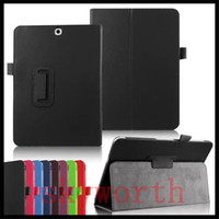 Wholesale Case For Galaxy Tab3 - Folio Flip Leather Case Cover for Samsung Galaxy Tab S3 T820 P580 ipad PRO 9.7 10.5 2017