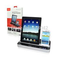 iphone için dock istasyonu hoparlörleri toptan satış-Toptan-Çok Fonksiyonlu Şarj Dock İstasyonu + Stereo Hoparlör iPad 2 Apple iPhone 3G 4Gfree nakliye