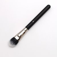 Wholesale Minerals Kit - Black Feature Wood Handle Natural Synthetic Duo Fiber 132 Mineral Foundation Brush for Makeup Professional Cosmetic Brushes Kit