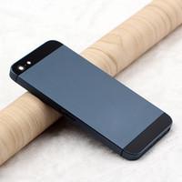 châssis iphone 5s achat en gros de-Pour iPhone 5S - Couvercle de la batterie arrière - Logement de la porte arrière - Coque de remplacement du châssis central Pour Apple iPhone 5S - Boîtier arrière