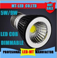 Wholesale Led Mr16 Cob 5w Dimmable - High power Dimmable Led COB Lamp 5W 7w 9w E27 GU10 E14 GU5.3 110-240V MR16 Led Light Spotlight led bulb downlight lighting