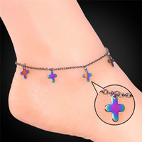 Wholesale summer bracelet accessories for sale - MGC Multi color Accessories Stainless Steel Anklet New Foot Jewelry Gift For Women Leg Bracelet Summer Style